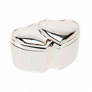 sophia silverplated double heart ring box confetticouk With double ring box for wedding ceremony