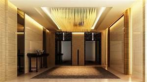 Ceiling Interior Design Hotel Elevator Lobby Design