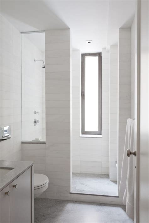 tile shower curb bathroom contemporary with tall narrow window top vanities tops