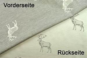 Stoffe Mit Hirschmotiven : dekostoff jacquard zweiseitig hirschrudel grau ~ Markanthonyermac.com Haus und Dekorationen