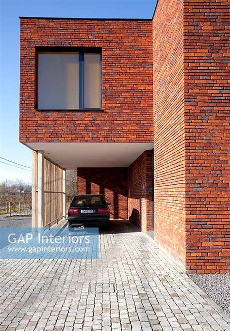 modern red brick hou stock photo  bieke claessens