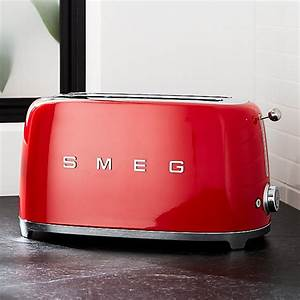 Toaster Retro Design : smeg red 4 slice retro toaster crate and barrel ~ Frokenaadalensverden.com Haus und Dekorationen