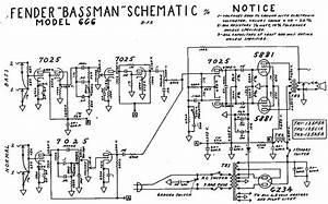 Fender  U0026quot Blonde U0026quot  Bassman Tube Amp Schematic