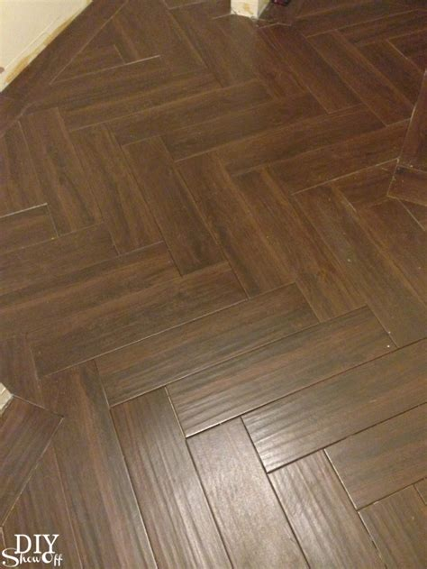 6x24 wood tile patterns laundry room herringbone pattern tile floor details diy