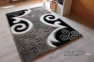 Teppich Mit Glitzer : lusso tappeto nero grigio bianco con neutro motivo e effetto glitter poliestere schaggy ~ Frokenaadalensverden.com Haus und Dekorationen
