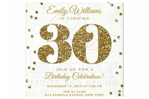 Free Printable 30th Birthday Party Invitation Templates Pinterest Explore Invitations And More