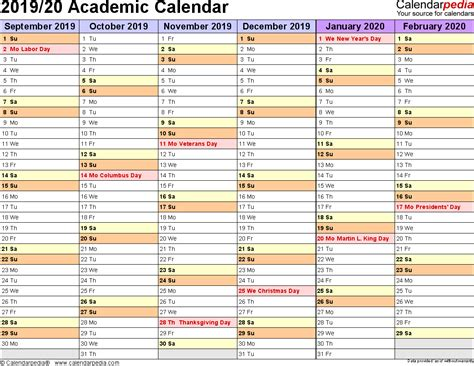 academic calendars printable word templates