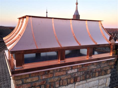 Perfect Copper Chimney Cap Install Copper Chimney Caps Install