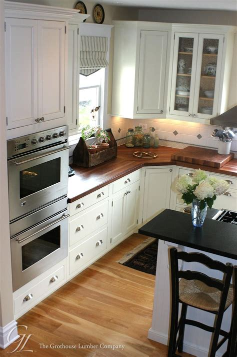 White Kitchen Cupboards With Black Countertops light floor white cabinets wood countertops custom