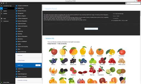 solution cuisine health food solution conceptdraw com