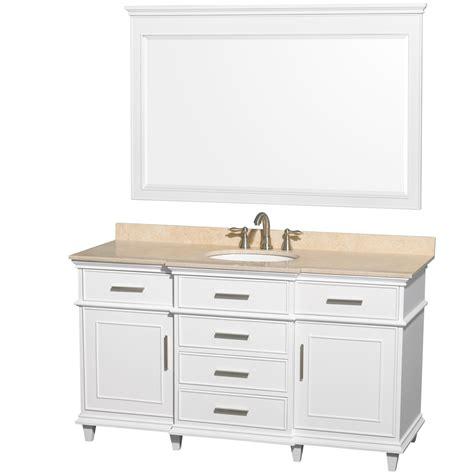 60 inch bathroom vanity single sink ackley 60 inch white finish single sink bathroom vanity