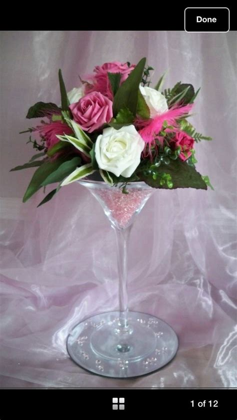 Tischgestecke In Glas by Flowers In A Martini Glass Martini Glass Flower