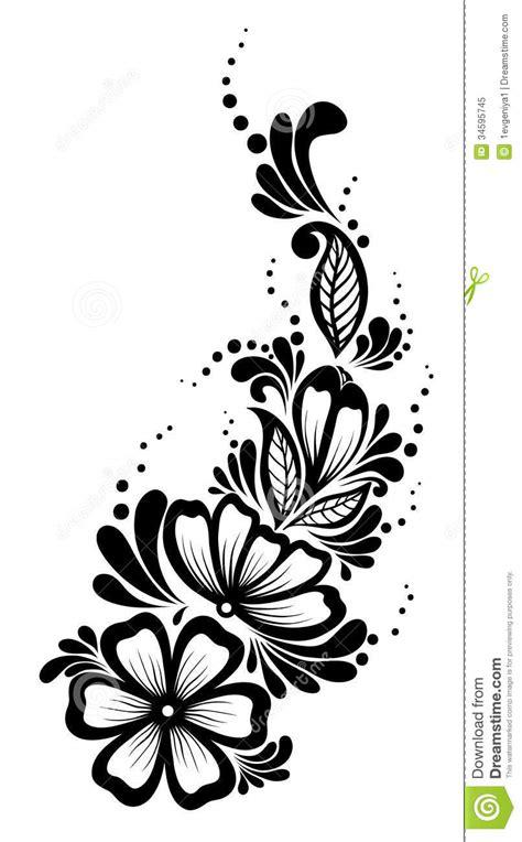 mooi bloemenelement zwart witte bloemen vector illustratie illustratie bestaande uit