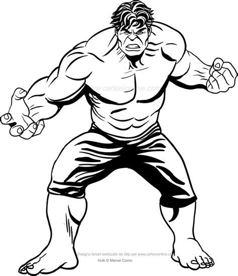 disegno  hulk dal film da colorare