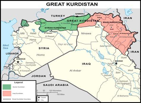 breaking state  great kurdistan   created  syria