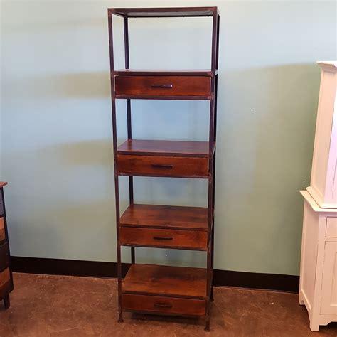 iron and wood bookcase iron and wood bookcase with four drawers nadeau memphis