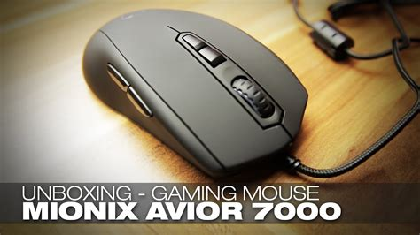 Mionix Avior 7000 Gaming Mouse Unboxing Youtube