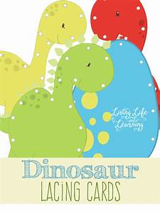 dinosaur lacing cards With lacing card templates