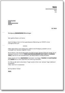 mietvertrag kündigungsfrist mieter k 252 ndigung mietvertrag mieter nachmieterangebot de musterbrief