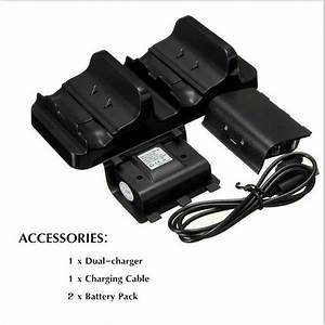 Dual Charging Dock Charger2x Rechargeable Battery Pack