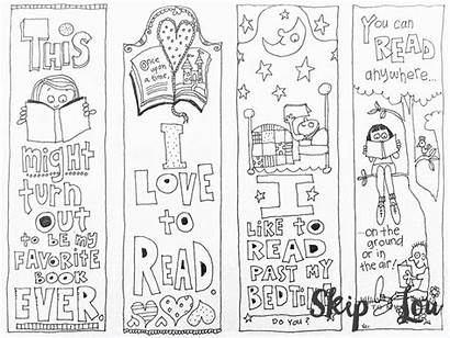 Coloring Bookmarks Printable Pages Lou