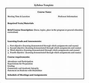 6 syllabus templates pdfdoc With create a syllabus template