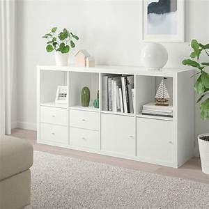 Tischdecke Weiß Ikea : kallax regal mit 4 eins tzen hochglanz wei ikea ~ Watch28wear.com Haus und Dekorationen