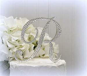 "5"" Monogram Letter Wedding Cake Topper. Cake Topper ..."