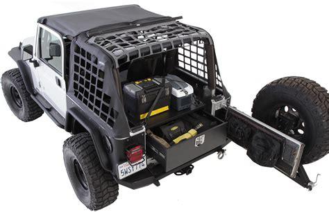 jeep wrangler storage smittybilt 2761 security storage vault for 87 06 jeep