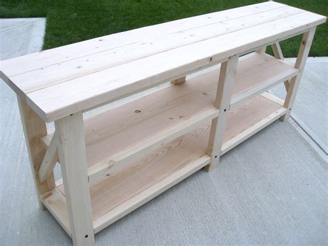 diy sofa table plans ana white diy rustic x console table diy projects