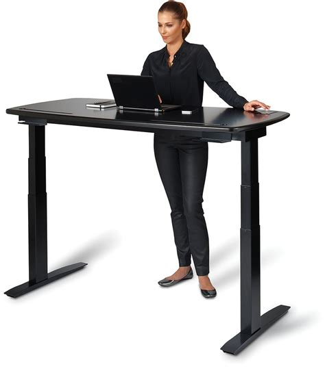 how high should a standing desk be kinetic desk rises to nudge you into a standing position