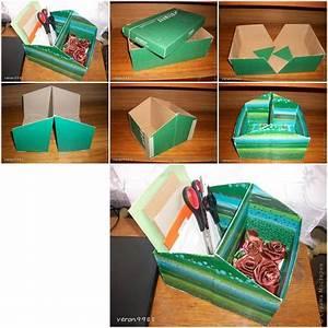 How to make Shoe Box Organizer step by step DIY tutorial