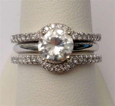 solitaire enhancer diamonds ring guard wrap white gold