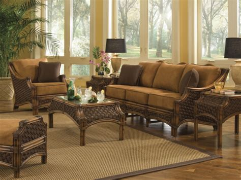 Rattan Dining Room Sets Bamboo Living Room Furniture