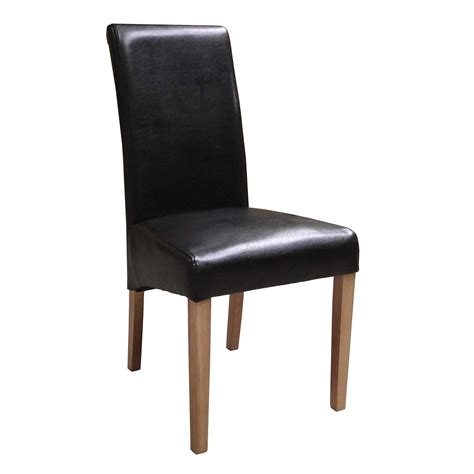 brown faux leather dining chairs countryside pine  oak