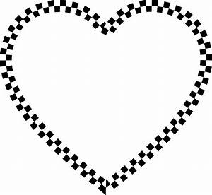 Clipart - Checkered Heart