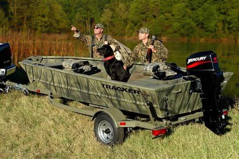 Duck Boat Outboard by Research Tracker Boats Grizzly 1548 T Blind Duck
