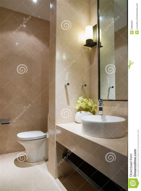 Nice bathroom stock image. Image of floor, ceramics