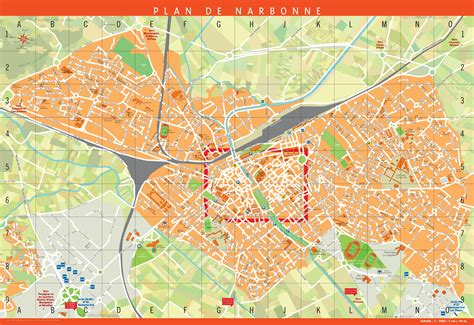 Schow And Nerbonne by Large Detailed Tourist Map Of Narbonne