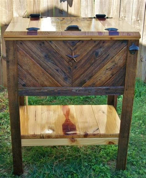 images  wooden cooler ideas  pinterest home projects ice  diy shed