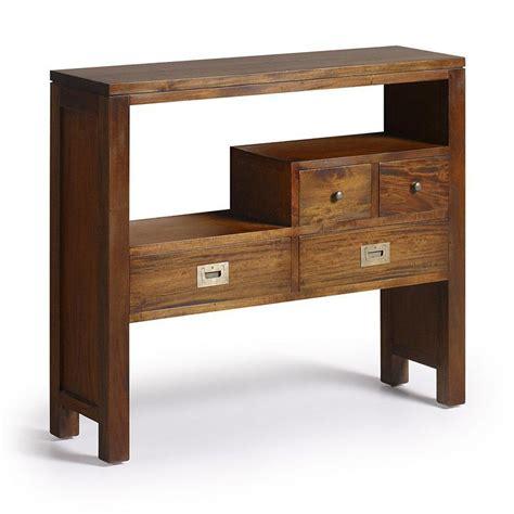 porte serviette cuisine console design colonial meuble d 39 entrée en bois exotique