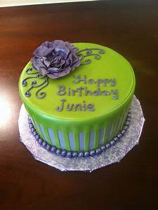 Purple and lime green birthday cake | my cakes | Pinterest ...