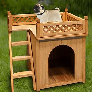 Dog kennel house wood garden wooden cage pet puppy outdoor for Wooden indoor dog pen