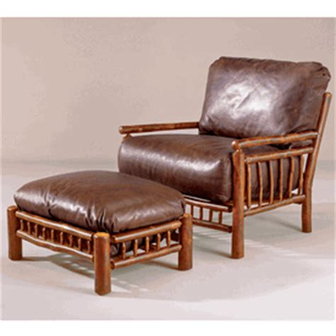 black forest hickory spindle chair and ottoman