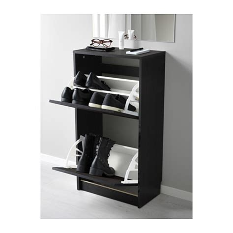 bissa shoe cabinet dimensions bissa shoe cabinet 2 compartment brown black furniture
