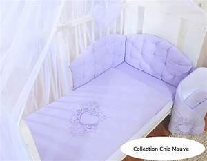 Couette Pour Lit Bébé : housses de couette et d 39 oreiller pour lit b b 140x70 chic mauve ~ Teatrodelosmanantiales.com Idées de Décoration