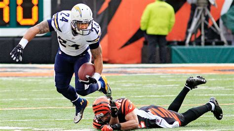 2013 Nfl Playoffs -- Ryan Mathews Of San Diego Chargers