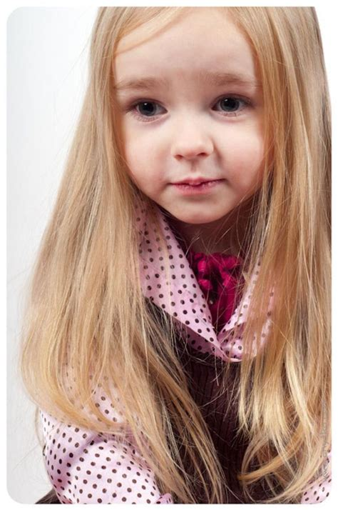 pictures of long hair kids styles