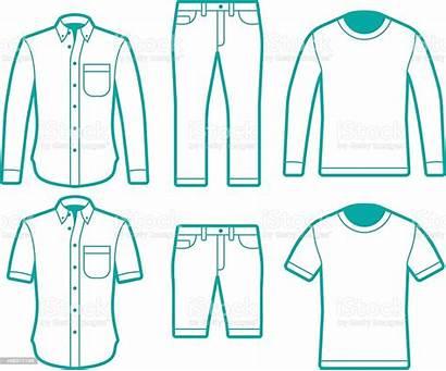 Pants Shirts Symbols Male Vector Tshirts Istock