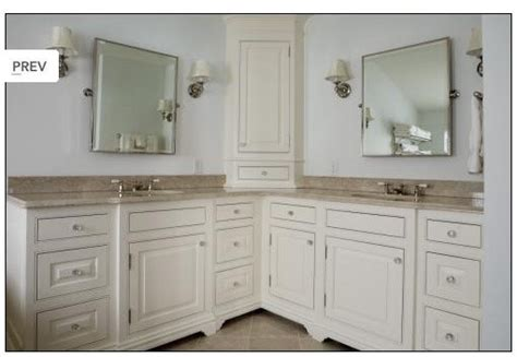 L Shaped Bathroom Vanity by Large Vanity W Tower Traditional Bathroom